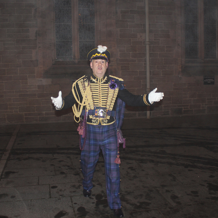 1745 Jacobite Commander's Dinner St John's Kirk procession with Jacobite Tours