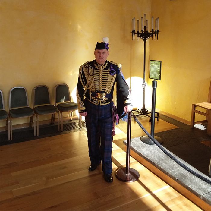 Alba Hussar at Stirling Castle with Jacobite Tours